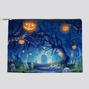 Halloween Night In Cemetery Makeup Bag