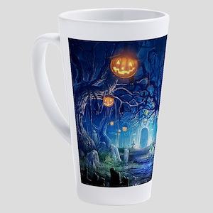 Halloween Night In Cemetery 17 oz Latte Mug