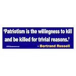 Patriotism Bumper Sticker