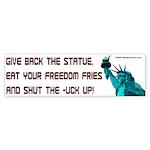 Freedom Fries Bumper Sticker