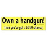 Handgun Bumper Sticker