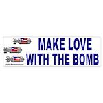 Bomb Love Bumper Sticker