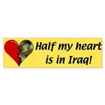 Half My Heart Bumper Sticker