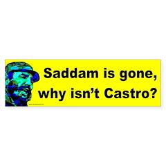 Saddam/Castro Bumper Bumper Sticker