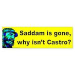 Saddam/Castro Bumper Sticker