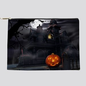 Halloween Pumpkin And Haunted House Makeup Bag