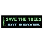Eat Beaver Bumper Sticker