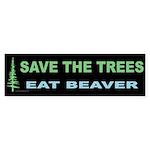 Eat Beaver Bumper Sticker