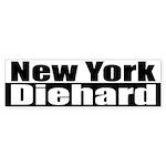 New York Diehard Bumper Sticker