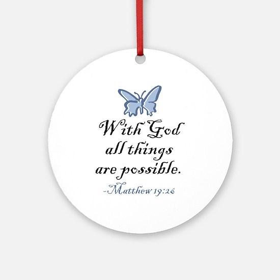Matthew 19:26 Ornament (Round)