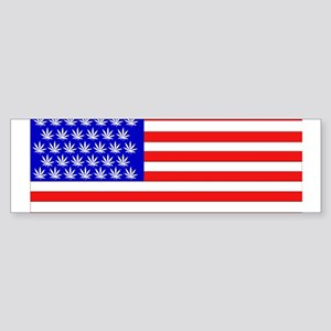 American Pot Flag Bumper Sticker
