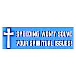 Speeding Bumper Sticker