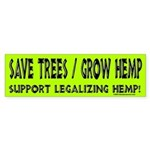 Grow Hemp Bumper Sticker