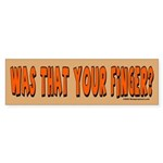 Finger Bumper Sticker