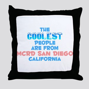 Coolest: MCRD San Diego, CA Throw Pillow
