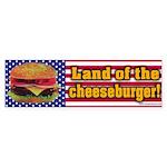 Cheeseburger Bumper Sticker