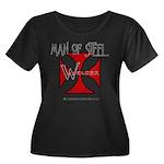 WELDER Women's Plus Size Scoop Neck Dark T-Shirt