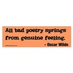Oscar Wilde Bumper Sticker
