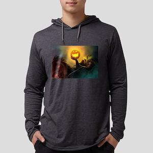 Rider With Halloween Pumpkin H Long Sleeve T-Shirt