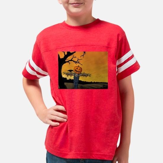 Halloween Scarecrow With Pumpkin Head T-Shirt