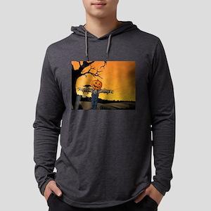 Halloween Scarecrow With Pumpk Long Sleeve T-Shirt