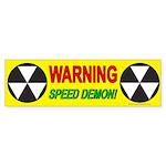 Speed Demon Bumper Sticker