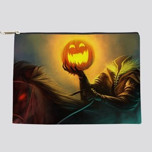 Rider With Halloween Pumpkin Head Makeup Bag