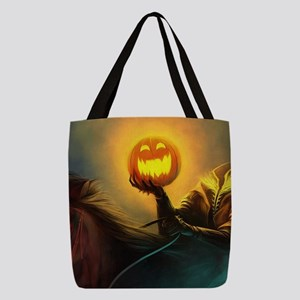 Rider With Halloween Pumpkin He Polyester Tote Bag