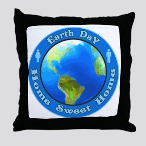 Home Sweet Home Earth Throw Pillow