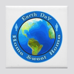 Home Sweet Home Earth Tile Coaster