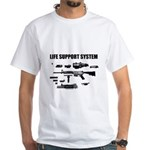 White Life Support System T-Shirt