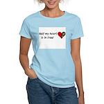 Women's Pink Half My Heart T-Shirt