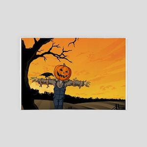 Halloween Scarecrow With Pumpkin Head 4' x 6' Rug