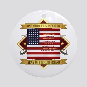 2nd Ohio Volunteer Infantry Round Ornament