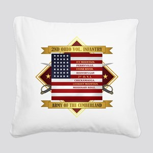 2nd Ohio Volunteer Infantry Square Canvas Pillow