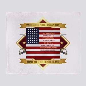 2nd Ohio Volunteer Infantry Throw Blanket