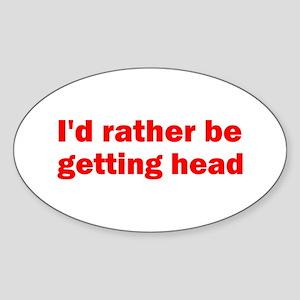 Getting Head Oval Sticker