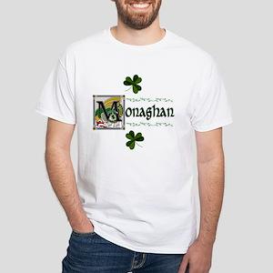 Monaghan Celtic Dragon White T-Shirt