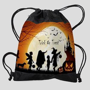 Halloween Trick Or Treat Kids Drawstring Bag