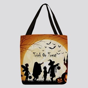 Halloween Trick Or Treat Kids Polyester Tote Bag
