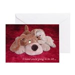 Puppy Whispers - Birthday Card - 24
