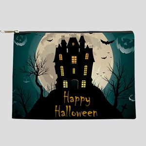 Happy Halloween Castle Makeup Bag