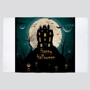 Happy Halloween Castle 4' x 6' Rug