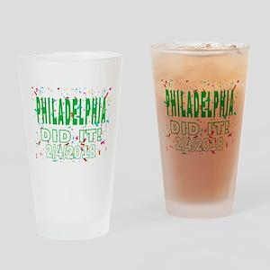 PHILADELPHIA DID IT! 2/4/2018 Drinking Glass