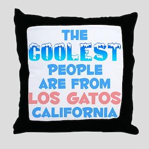 Coolest: Los Gatos, CA Throw Pillow