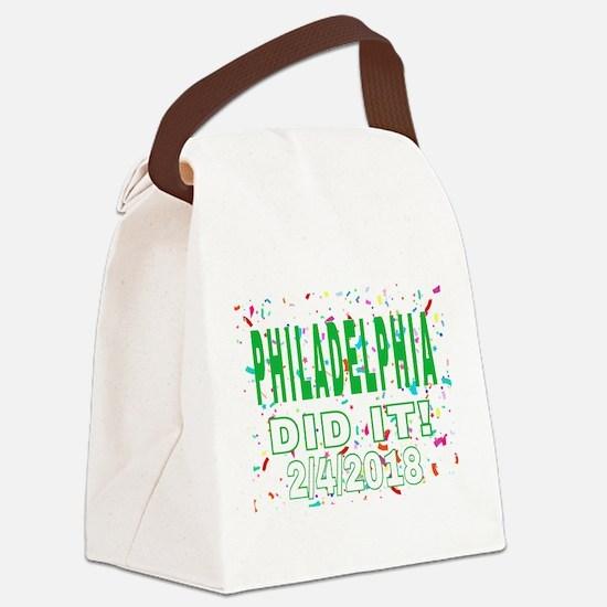 PHILADELPHIA DID IT! 2/4/2018 Canvas Lunch Bag