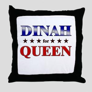 DINAH for queen Throw Pillow