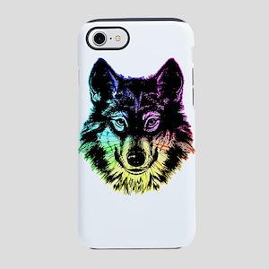 Neon Wolf Face iPhone 8/7 Tough Case