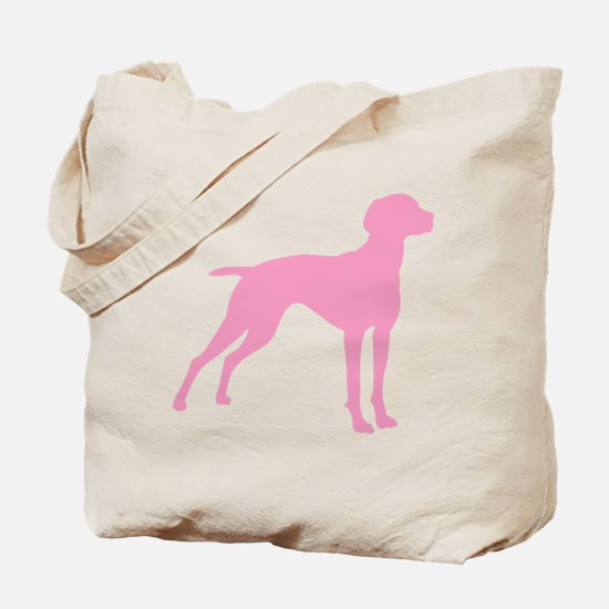 Pink Vizsla Dog Tote Bag