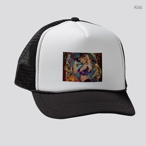Sexy Halloween Witch Kids Trucker hat
